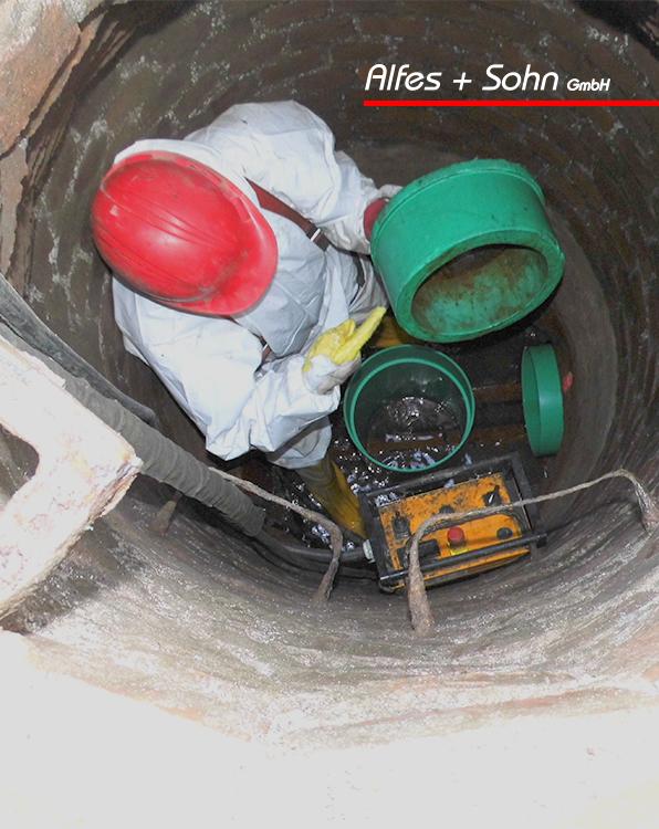 Alfes + Sohn GmbH Referenzen | Foto eines Kanalschachtes von oben, TIP-Verfahren