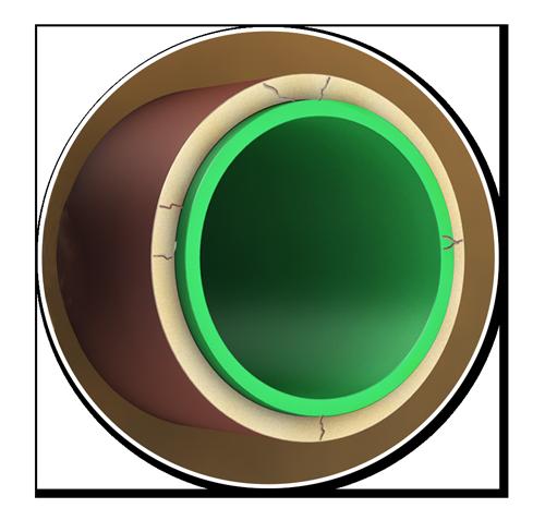 Darstellung eines Neu-Rohrs im Alt-Rohr | Funktionsweise TIP-Verfahren