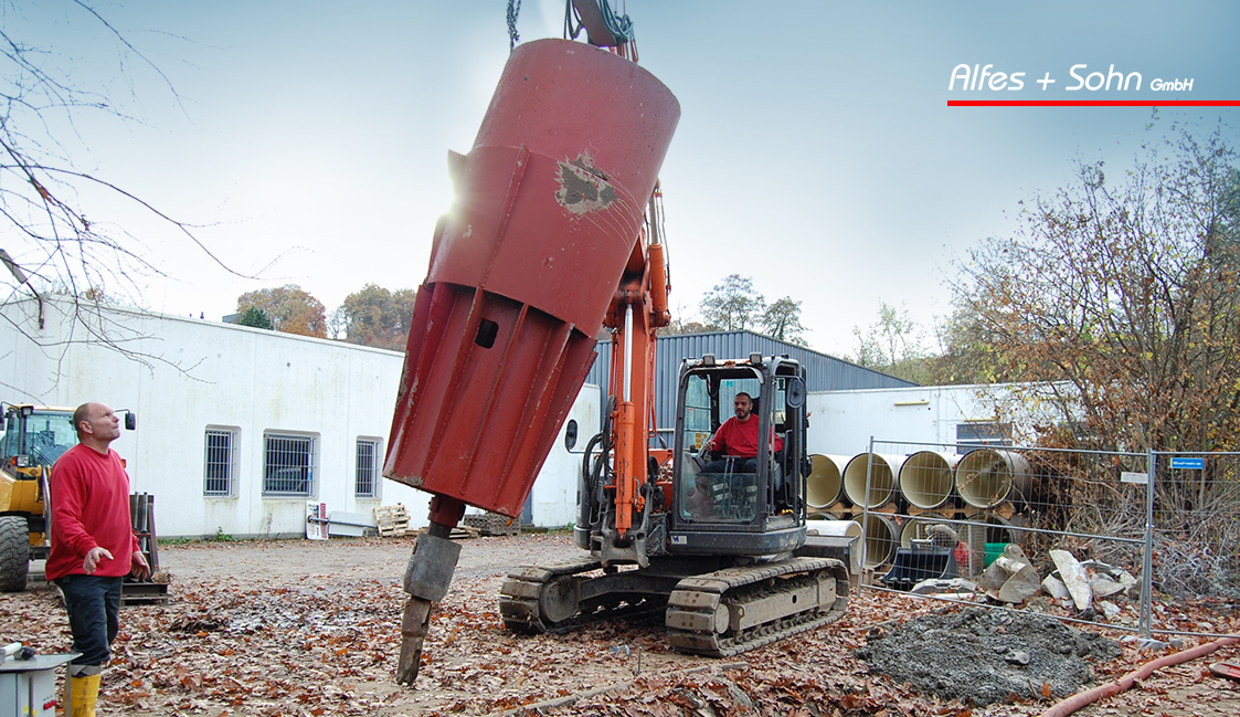 Alfes + Sohn GmbH Referenzen | Aufnahme Berst Kopf Baustelle in Wiehl