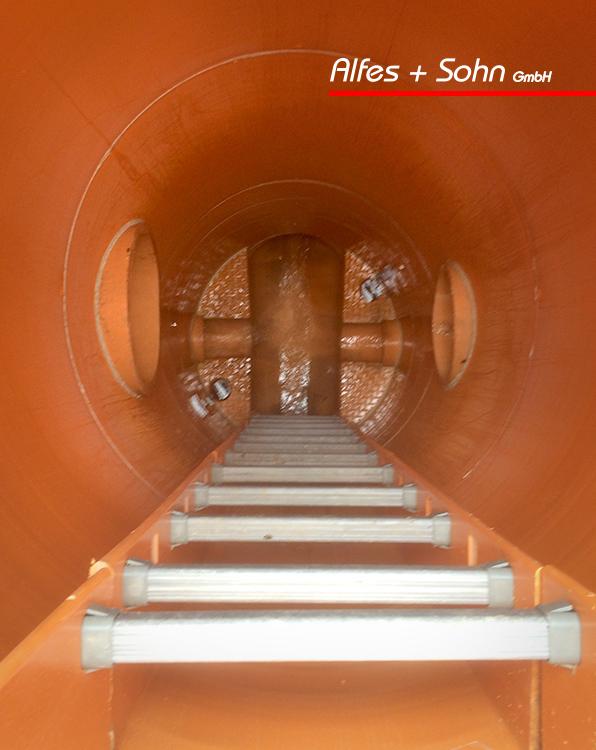 Alfes + Sohn GmbH Referenzen | Aufnahme sanierter Schacht von oben