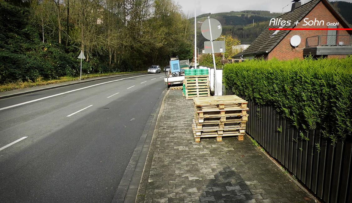 Alfes + Sohn GmbH Leistungen | Aufnahme Baustelle in Plettenberg Baustelleneinrichtung