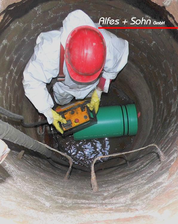 Alfes + Sohn GmbH Referenzen | Foto Kanalschacht von oben TIP-Verfahren