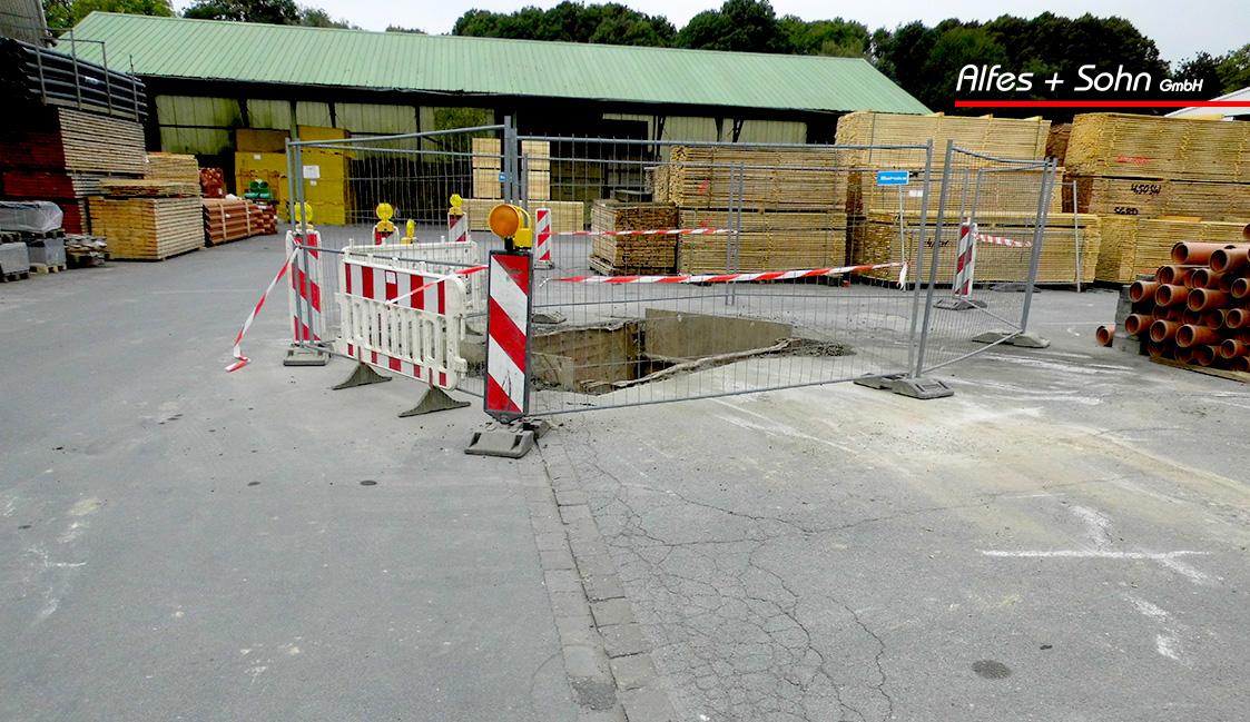 Alfes + Sohn GmbH Referenzen | Aufnahme Baugrube TIP-Verfahren in Wiehl Raab Karcher