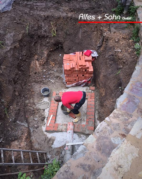 Alfes + Sohn GmbH Referenzen | Aufnahme des gemauerten Kanalschachtes in Saalburg