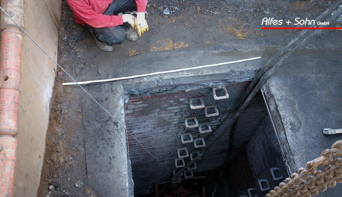 Alfes + Sohn GmbH Referenzen | Aufnahme Baugrube Berstlining-Verfahren in Unna