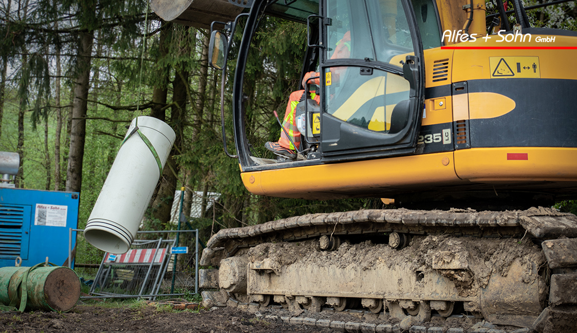 Alfes + Sohn GmbH Referenzen | Aufnahme Baustelle in Wenden-Hünsborn