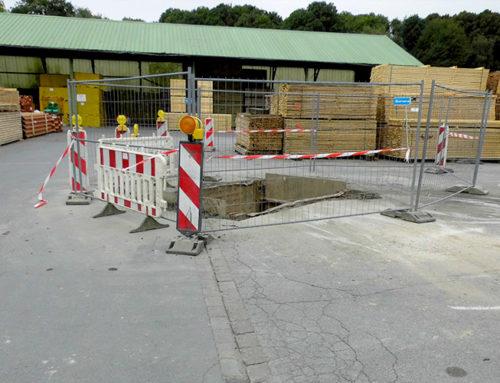 Baustelle in Essen. Raab Karcher, 2016